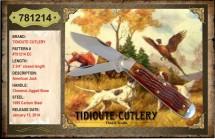 #781214 EC Tidioute, American Jack, Chestnut Jigged Bone