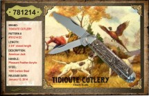 #781214 EC Tidioute, American Jack, Pheasant Feather Acrylic