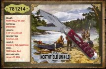 Northfield UN-X-LD, Cranberry Red, Jigged Bone